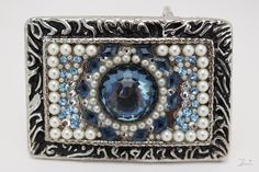 Hey, I found this really awesome Etsy listing at https://www.etsy.com/listing/531463667/womans-blue-belt-buckle-blue-and-white