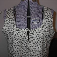 Sleeveless Peasant Blouse Fits WomenSize 10 or 12