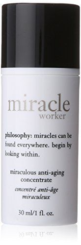 Product review for Philosophy Miracle Worker Miraculous Anti-Aging Concentrate, 1 Ounce  - 1 oz concentrate .miracle worker miraculous anti-aging concentrate was launched by the design house of philosophy .it is recommended for casual wear. .miracle worker miraculous anti-aging concentrate by philosophy for unisex – 1 oz concentrate.
