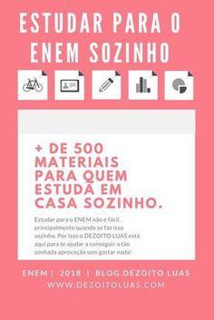 Dicas para estudar sozinho sem gastar nada, + de 500 materiais!
