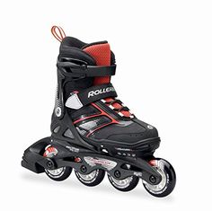 Rollerblade Spitfire JR XT 2016 Kids Skate BlackRed Adjustable 5 to 8 *** To view further for this item, visit the image link. (Amazon affiliate link)