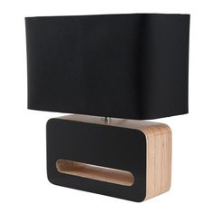 Table Lamp Wood, Black Table Lamps, Wooden Lamp, Bedside Lamp, Interior Lighting, Ceiling Lamp, Woody, Luxury Homes, Bulb