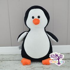 Penguin Stuffed Animal Cubbie by WhimsicalWillowLLC on Etsy