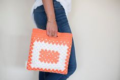 Crochet Handbag, Crochet Clutch, Crochet Bag, Crochet Purse,