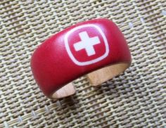 Swiss Army Ring  adjustable wood ring by HutchMade on Etsy