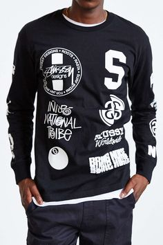 Stussy Dot Collage Long-Sleeve Tee