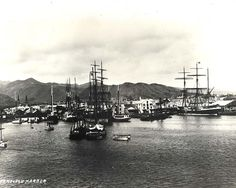 Honolulu Harbor in 1881.