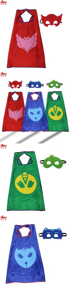 SPECIAL L27* Child PJ Cape and Mask Cosplay Costume Party pj masks costume birthday party masque party dress animal felt mask