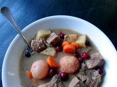 Slow Cooker Beef Stew with Cranberries and Rosemary   Phoenix Helix