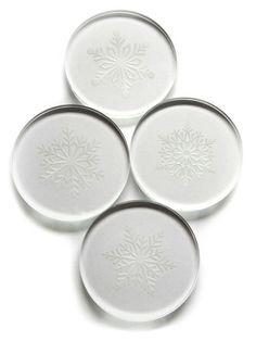 Set of 4 Snowflake Coasters