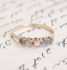 Victorian Moonstone Quintet Ring, $575.00