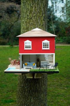 Casas para pájaros en los árboles de lujo http://www.magazinespain.com/lujo-de-casa-para-lo-pajaritos