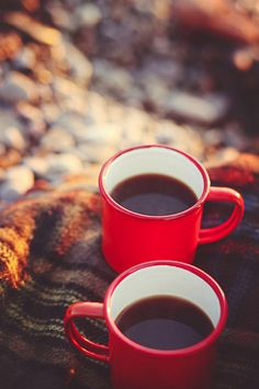 Coffee for two ♥oh don't forget the cream!