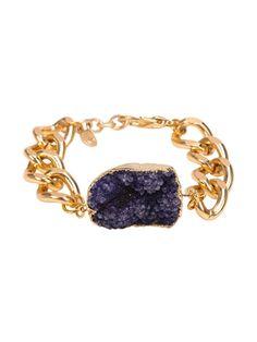Link Bracelet with Druzy — Simply Soles
