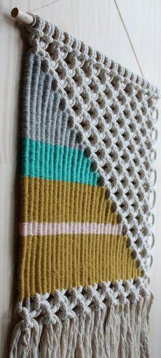 Macrama and weaving