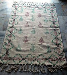 Handmade Rug Turkish Kilim Dhurrie Persian Oriental Block print Kilim Area Rug  #Handmade #ArtsCraftsMissionStyle Kilim Rugs, Persian, Oriental, Area Rugs, Arts And Crafts, Handmade, Ebay, Home Decor, Rugs