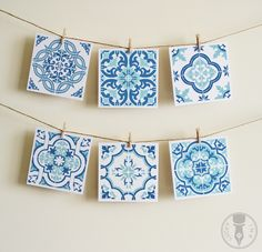 A set of six, square folded cards featuring 6 unique graphic tile designs. Each card is inspired by local, traditional Portuguese tile patterns. Cards are blank inside, so you can personalize them for someone special, perfect for including a note with a gift! Cards also come with square, white en...