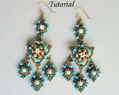 VENETIAN LACE beaded earrings beading tutorials and patterns