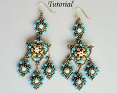 VENETIAN LACE beaded earrings beading tutorials and patterns
