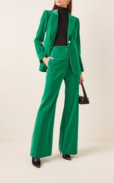 Flared Corduroy Pants by Victoria Beckham Suit Fashion, Look Fashion, Fashion Outfits, Street Fashion, Lolita Fashion, Fall Fashion, Korean Fashion, Fashion Trends, Prom Outfits