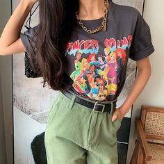 Wild cartoon pattern Princess print T-shirt · FE CLOTHING · Online Store Powered by Storenvy Cute Disney Outfits, Cute Outfits, Disneyland Outfits, Harajuku Fashion, Fashion Outfits, Fashion Movies, Grunge Outfits, Oufits Casual, Princess Cartoon