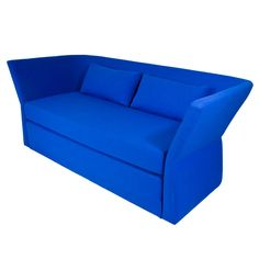 {Nolen Sofa} love this bold bright cobalt blue! sofa extends out into sleeper, too!