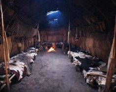 A longhouse was the traditional home of the Kanien'keha:ka, also known as the Mohawk Indians.