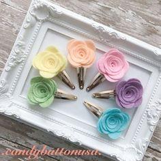 Primavera broche flor Hairclip fieltro Snap Clip broche de