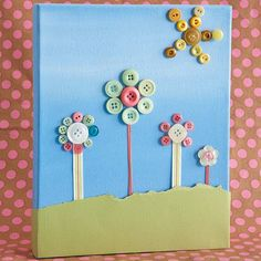 Easy button crafts for kids.