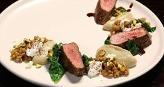 Picture of: Lamb Blackstrap with Smoky Eggplant and Pearl Barley