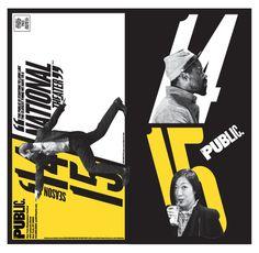 Paula Scher von Pentagram lässt die Typografie für das New Yorker Public Theater aus der Reihe tanzen ...