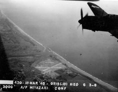 Strike photo taken by aircraft from USS Bunker Hill showing an Helldiver of Squadron over Miyazaki Airfield on southern Kyushu, Japan, 18 Mar 1945 (National Museum of Naval Aviation) Anime Couples Manga, Cute Anime Couples, Anime Girls, Siege Of Boston, Battle Of Bunker Hill, Cowboy Bebop Anime, Bletchley Park, Kyushu, Okinawa