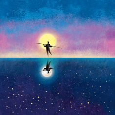 The Tightrope Walker - v2 by roweig on deviantART #star #night #sky #heaven