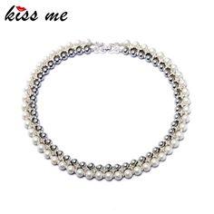 Noble femmes bijoux 2015 nouvelle mode Double couche créé simulé perles Choker collier usine gros dans Tours de cou de Bijoux sur AliExpress.com | Alibaba Group