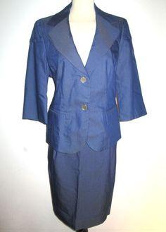 * * * Elégance Kostüm blau, Gr.42 * * * Elegant, Jackets, Women, Fashion, Clothing Accessories, Fashion Women, Blue, Classy, Down Jackets