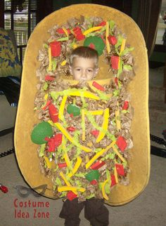 Taco costume - this homemade version is so much better than store-bought! Homemade Halloween Costumes, Halloween Kids, Taco Costume, Nacho Taco, 2017 Ideas, Costume Ideas, Paleo, Mexico, Holidays