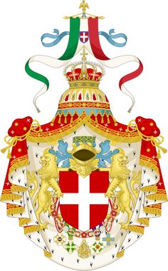 Great coat of arms of the king of italy - User:Tom-L/Orthodox heraldry - Wikimedia Commons King Of Italy, House Of Savoy, Elodie Frégé, Jeff Koons, Billie Holiday, Chivalry, Knights Templar, Family Crest, Royal House