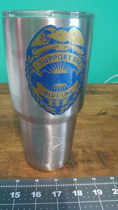 Supporting The Blue. Ozark Trail. Custom decals, Decaled Tumblers. Cooler Tumblers.