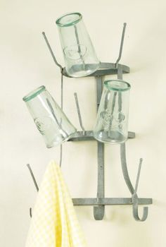 Rustic Industrial French Farmhouse Wall Mounted Indoor / Outdoor Bar Wine Beer Bottle Tree Glass Dryer Drying Rack Glory & Grace http://www.amazon.com/dp/B00E6WZDIW/ref=cm_sw_r_pi_dp_sXFStb0DAFG9S0W1