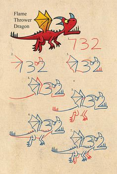 Drawing Dragons With Numbers | Shop Harptoons