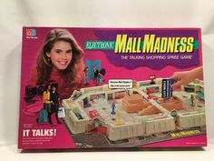 Electronic Mall Madness Board Game Milton Bradley 1989 #4047 Complete #MiltonBradley