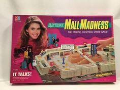 Electronic Mall Madness Board Game Milton Bradley 1989 #4047 Complete #MiltonBradley