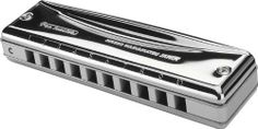 """Suzuki Promaster Harmonica C by Suzuki. $47.99. MR350C Key: C Features: -Harmonica.-Satin anodized, milled, billet aluminum alloy comb.-Polished stainless steel reed covers.-Soft-lined.-10 Hole diatonic.-Hard shell carrying case is specially designed for comfort and protection. Dimensions: -Dimensions: 4.5"""" H x 1"""" W x 1.75"""" D."""