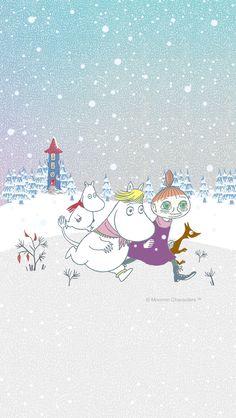 Winter Wallpaper, Pastel Wallpaper, Wallpaper Backgrounds, Iphone Wallpaper, Moomin Shop, Moomin Mugs, Moomin Wallpaper, Moomin Valley, Cartoon Photo
