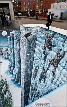 Commissioned by HBO, street artists Joe and Max created a 3D painting of 'The Wall', catching the curiosity of many Game of Thrones fans who just happened to pass by. Eventually, the fans pretended they were climbing and clinging on for dear life while taking photos. And the best part? No one had to die!