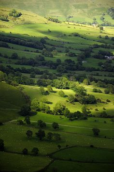 View from Mam Tor, Derbyshire, England - I have climbed Mam Tor in my youth, would love to do so again some day.