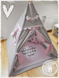 Pracownia Foggi - Foggia & # s Studie: Tipi - # Diy Teepee, Kids Teepee Tent, Teepees, Baby Decor, Nursery Decor, Childrens Teepee, Ideas Dormitorios, Creative Kids Rooms, Elephant Nursery