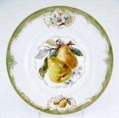 KPM Berlin Obstteller, Reliefzierat mit Spalier, Teller, Früchte, Blüten, #1 in Antiquitäten & Kunst, Porzellan & Keramik, Porzellan | eBay