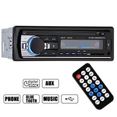 GHB Bluetooth Car Audio Stereo In Dash Car Stereo FM Receiver Mp3 Player With USB Port SD Input AUX Remote Control 1 DIN 12V http://caraudio.henryhstevens.com/shop/ghb-bluetooth-car-audio-stereo-in-dash-car-stereo-fm-receiver-mp3-player-with-usb-port-sd-input-aux-remote-control-1-din-12v/ https://images-na.ssl-images-amazon.com/images/I/5140H8E3ilL.jpg