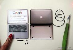 miniature mac laptop  #laptop #pc #technology #computer #ıphone #miniature #dollhouse #mini #gulipeksanat #paper #artist #nailpolish
